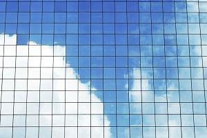 Summer Reflecting Modern Building