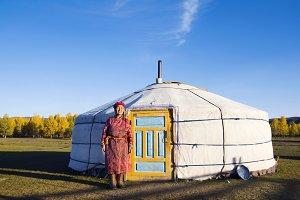 Mongolian lady standing