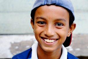Smiling Malaysian boy