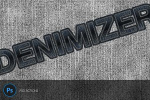 Denimizer - Text and Object in Jeans