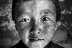 Mongolian Boy Portrait