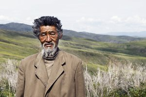 Senior Mongolian man