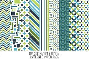 Blue & Green Digital Patterns