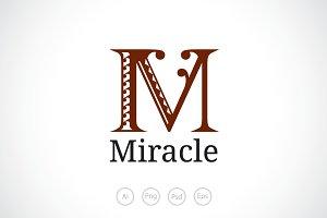 Alphabet M Logo Template