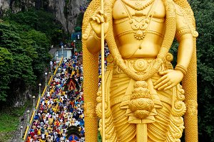 Batu Caves during a Hindu Thaipusam