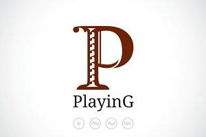 Alphabet P Logo Template
