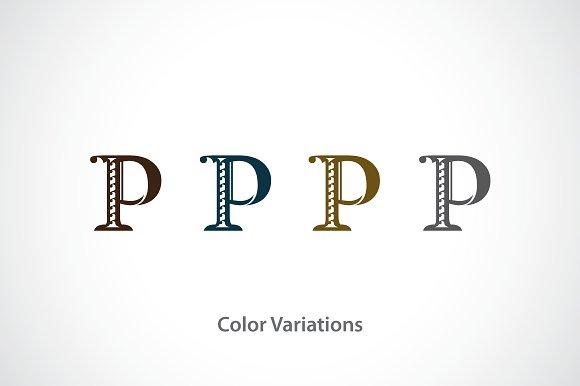 Alphabet P Logo Template Templates Creative Market
