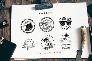 Carbon Typeface &Illustration,Badges