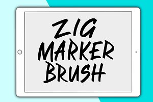 Zig Marker Procreate Brush