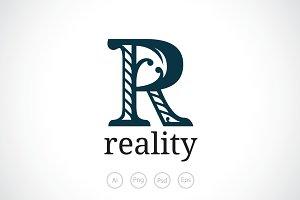 Alphabet R Logo Template