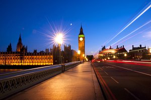 Night view of London, United Kingdom