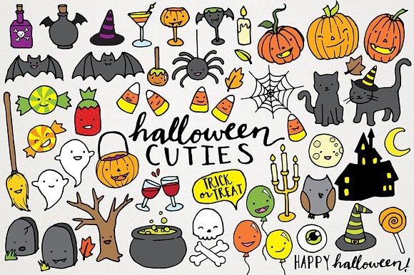 Cute Halloween Clipart Illustrations ~ Illustrations ~ Creative Market