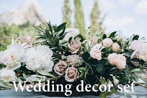 Wedding rustic decor set (18 photos)