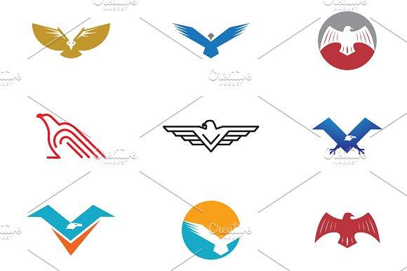 9 Bird And Eagle Logo Symbol Logo Templates Creative Market