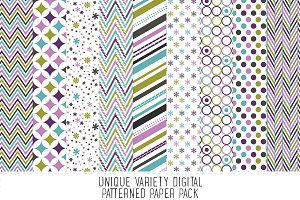 Teal & Purple Pattern Paper