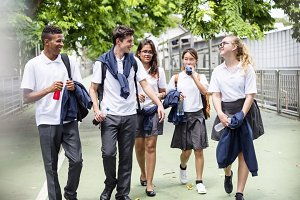 Students on their way home
