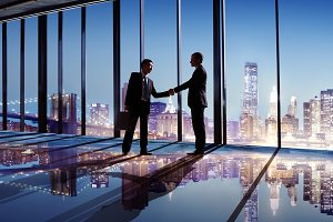 Business people making agreement