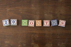 20 months in wooden blocks