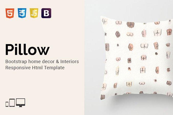 pillow home decor html template bootstrap themes creative market