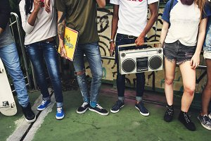 Teenagers youth culture