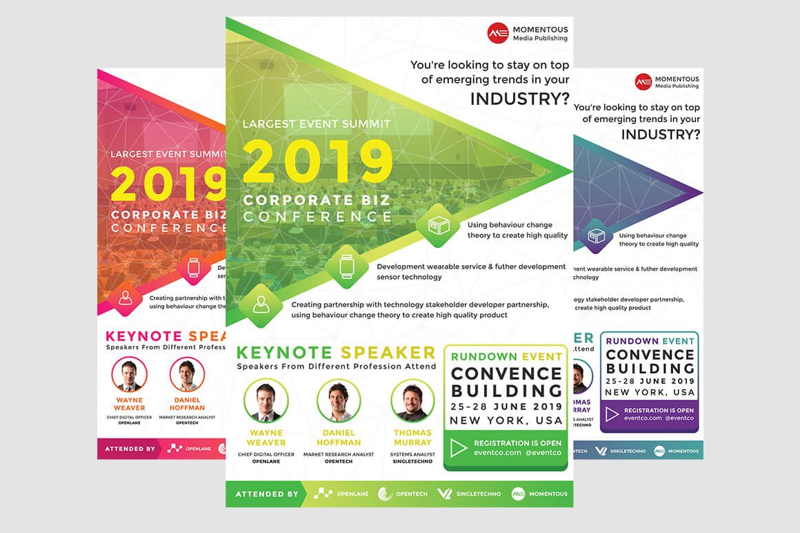 Corporate Business Event Flyer ~ Flyer Templates ~ Creative