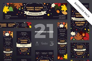 Banners Pack | Thanksgiving Party