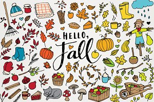 Hello Fall! Autumn 100+ Clipart Set