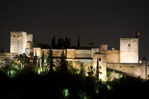 View of the Alhambra fortress
