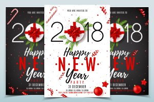 Happy New Year Poster Invitation