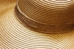 Straw hat close-up