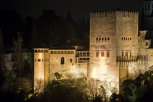 Comares Tower at night, Alhambra