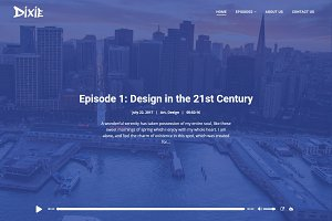 Dixie Podcast WordPress Theme