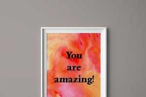 You are amazing. Watercolor card.