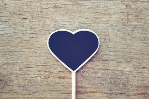 Heart shape mini chalkboard