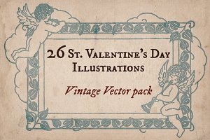 Vintage Valentine's Illustrations