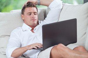 guy relaxing