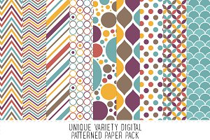 Calico Pattern Paper Pack