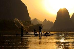 Fishing on the Li River