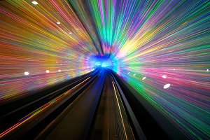 Long exposure of a tunnel