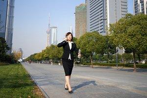 Asian businesswoman in Shanghai