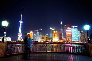 Shanghai light display