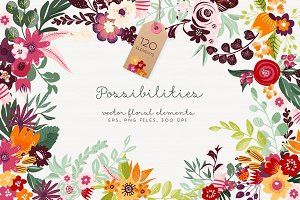 Possibilities - floral elements