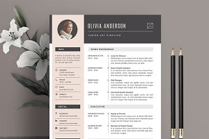 Resume Template 3 Pages | Pink