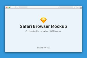 Safari Browser Mockup Sketch/SVG