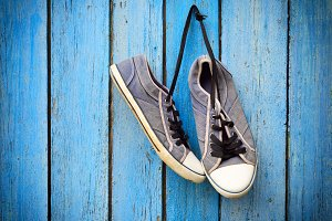 old men's textile sneakers