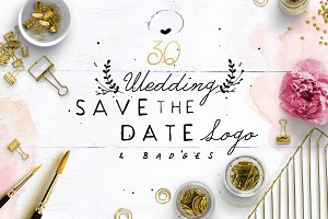 30 Save the Date Wreath Logo