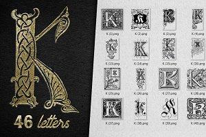 Vintage Letter K Vector And PNG