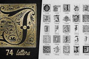 Vintage Letter J Vector And PNG
