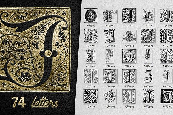 Vintage Letter J Vector And Png Symbol Fonts Creative Market