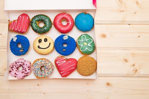 colorful donuts background